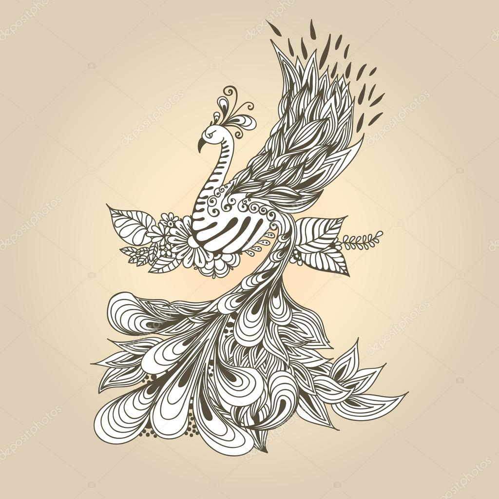 Bird Phoenix grey
