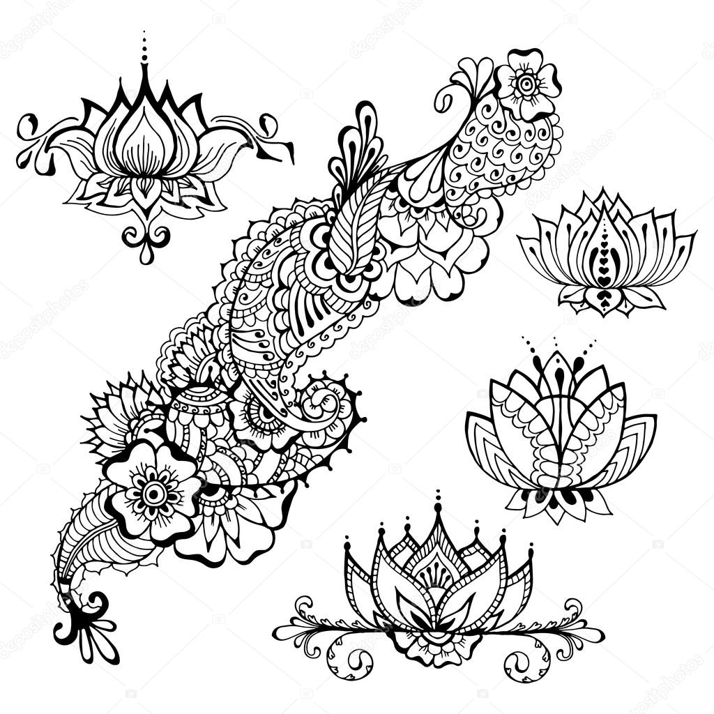 Imágenes Plantillas Tatoo Plantillas De Tatuajes De Flores De