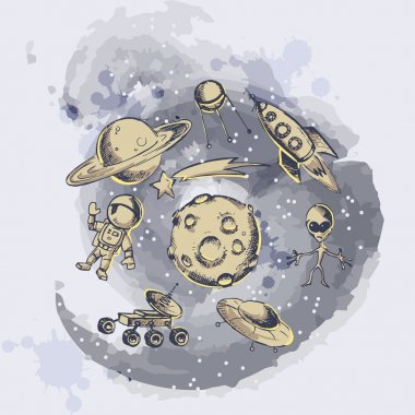 Space objects and symbols