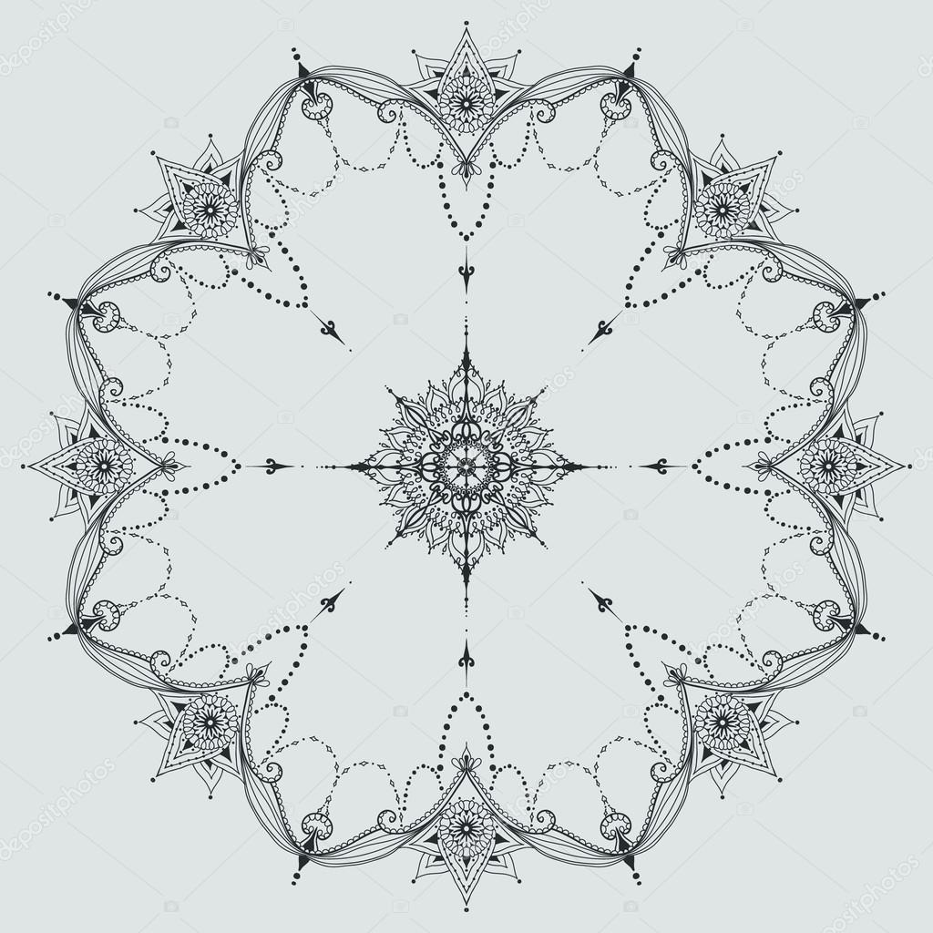 Plantillas De Mandalas Para Tatuar Circular Ornamento Floral
