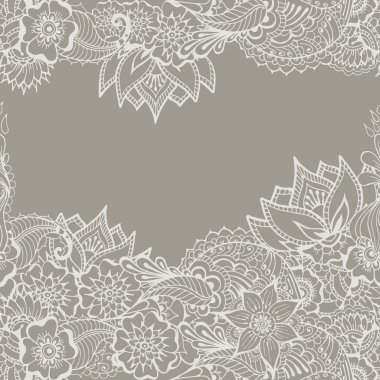 Mehndy flowers pattern