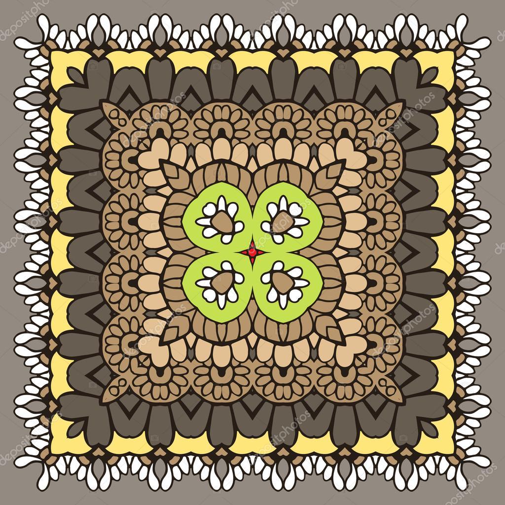 Mehndy flowers pattern