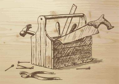 Hand drawn toolbox