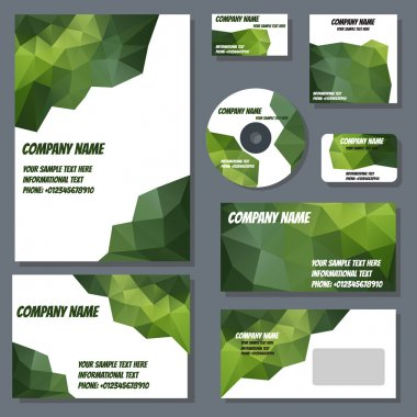 Set of templates for corporate style