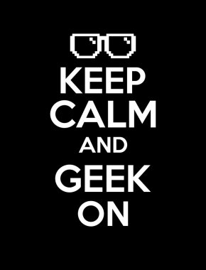 Keep calm geek black