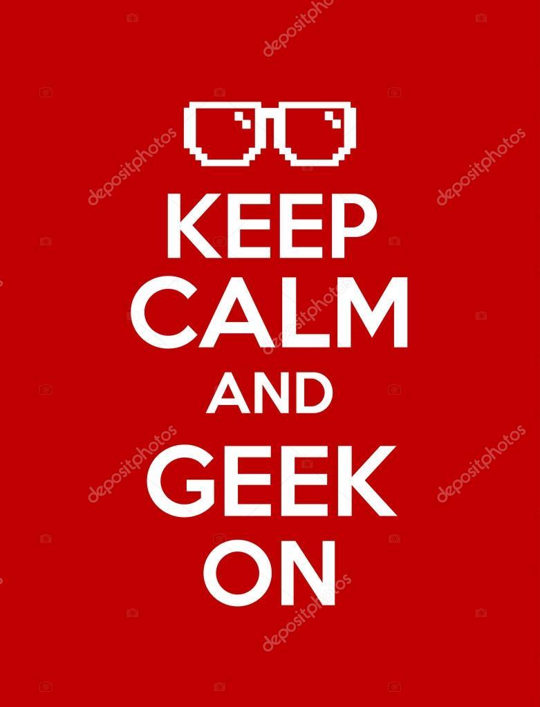 Keep calm geek red
