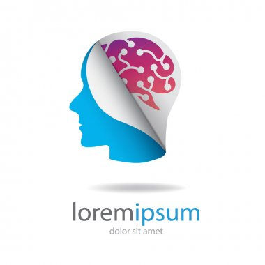 head with colored brain logo