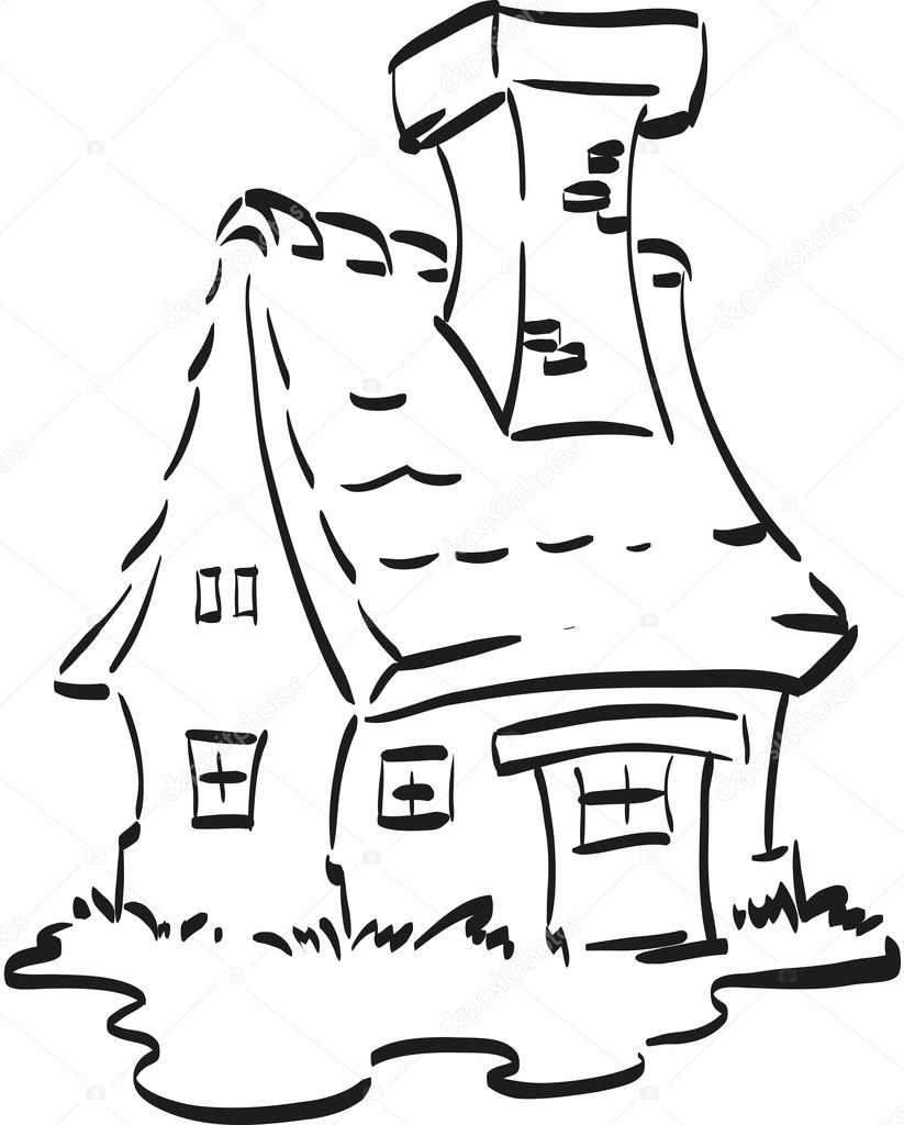 casa de hadas — Archivo Imágenes Vectoriales © Norberthos #67829679