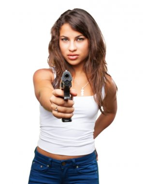 young black girl with gun