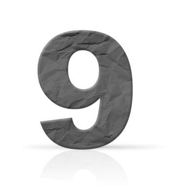 Nine red wrinkled number texture