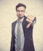 Fotografie young crazy businessman disagreement gesture