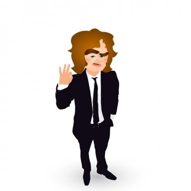 businessman all right gesture