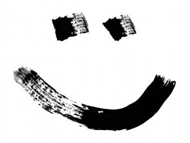 Smile or smiley face drawn