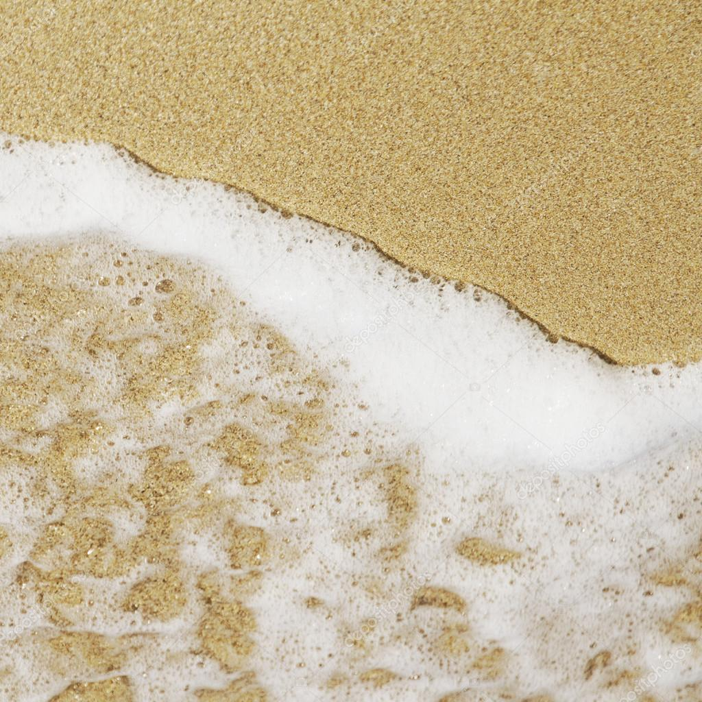 Beach Sand And Sea Water Texture Or Background Photo By Kues