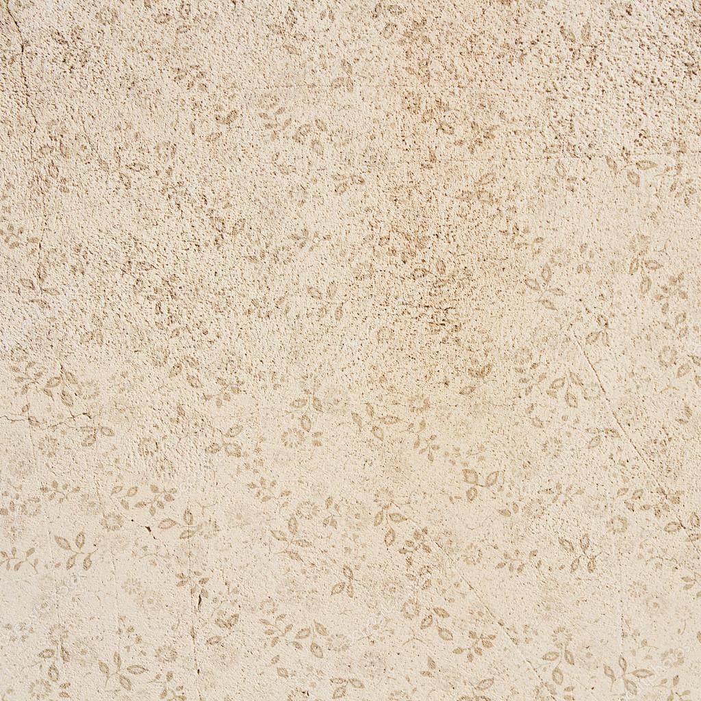 Floral Vintage Wall Texture Or Background Stock Photo