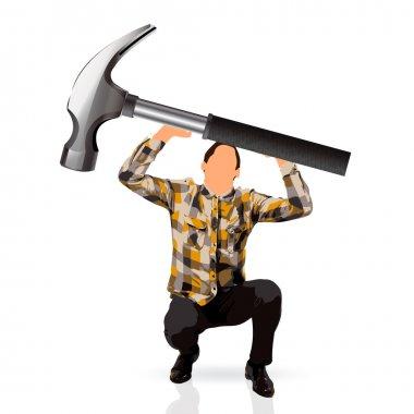 man with a hammer