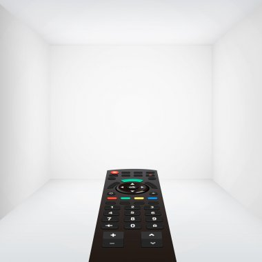 tv remote and room