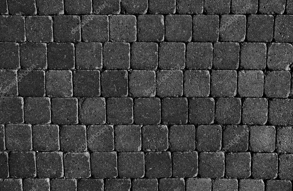 Pavimento in piastrelle pietre nere u foto stock kues