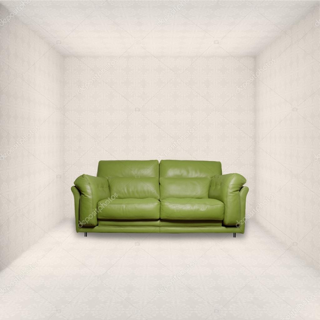 leather sofa into a room