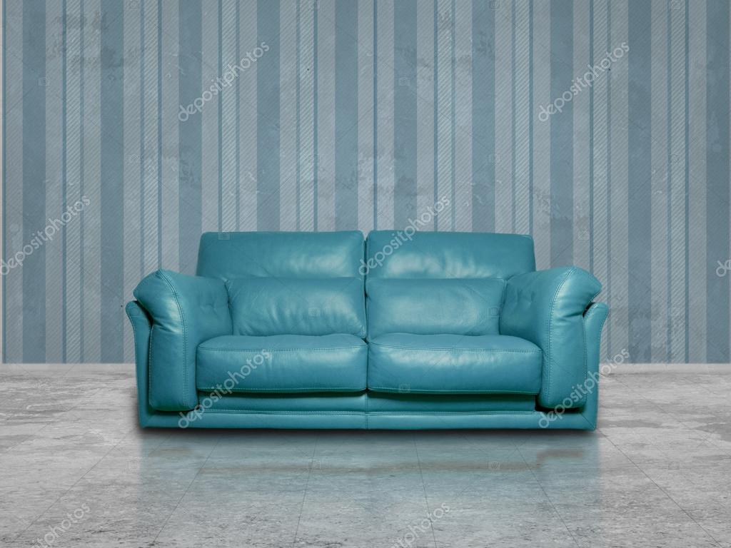 Divano In Pelle Blu.Divano In Pelle Blu Foto Stock C Kues 68399733