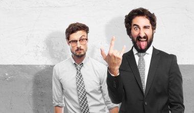 disagreement businessman gesture