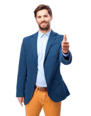 happy businessman okay gesture