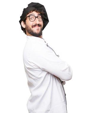happy cook man proud pose