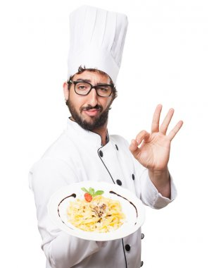 cook man allright with pasta