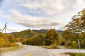 New Hampshire road in fall