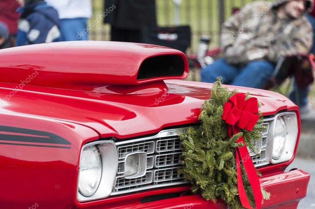 Christmas Classic Muscle Car Stock Editorial Photo C Vinoverde