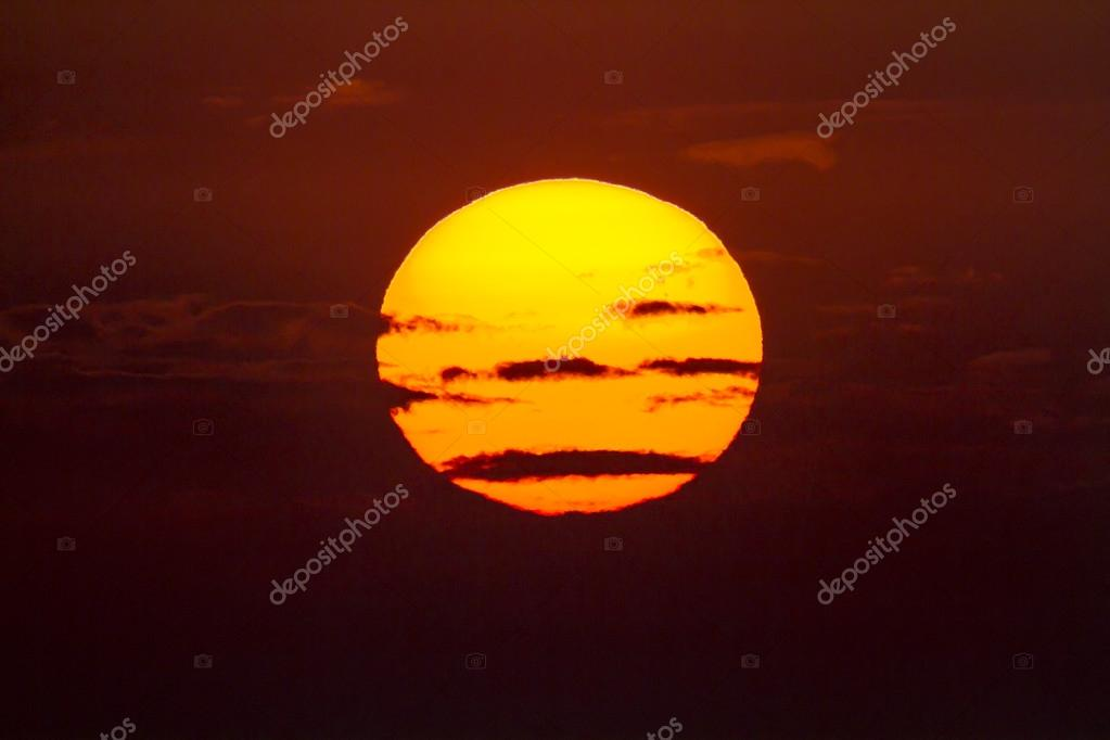 Sun setting over Gulf of Mexico