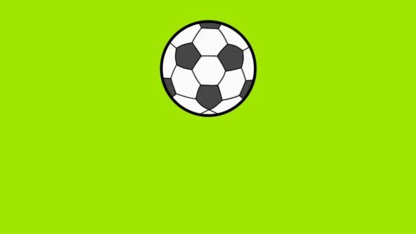 animációs videó egy ugráló focilabdáról
