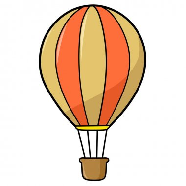 Colorful hot air balloon vector illustration design icon