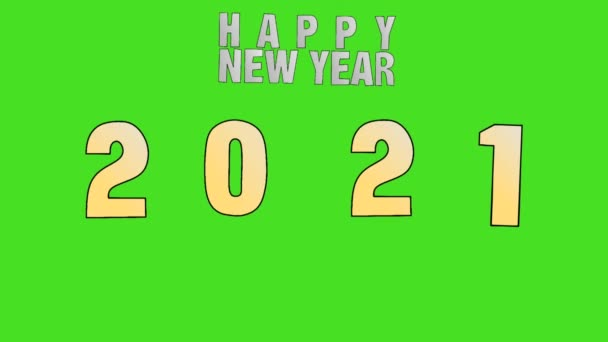 Animované video na zelené obrazovce Vám přeje šťastný nový rok 2021