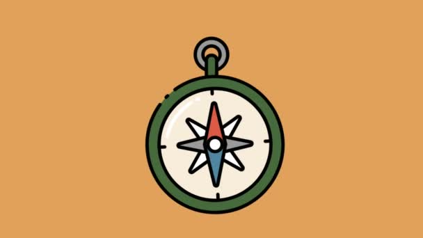 2 dimensional moving compass logo animation video