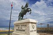 Jezdecká socha na obecné Gregorio Luperon v Puerto Plata, Dominikánská republika
