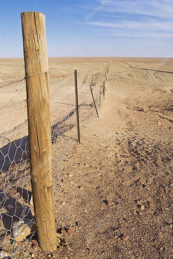 Dingoe fence in the Australian Outback.