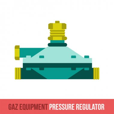 vector flat icon pressure regulator