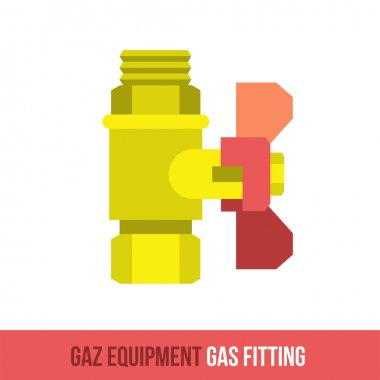 vector flat icon gas fitting