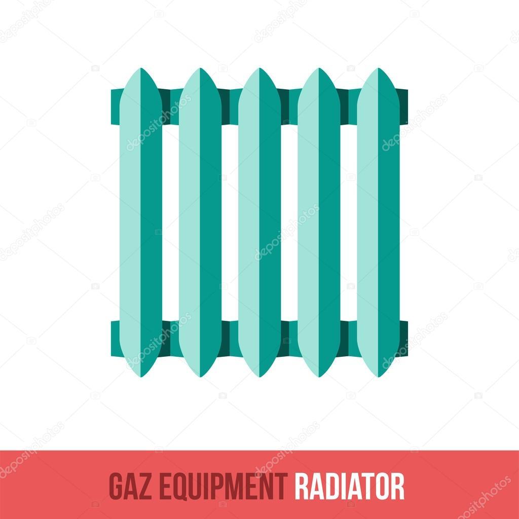 Vektor-flach-Symbol-Gas-Geräte. Heizkörper — Stockvektor ...