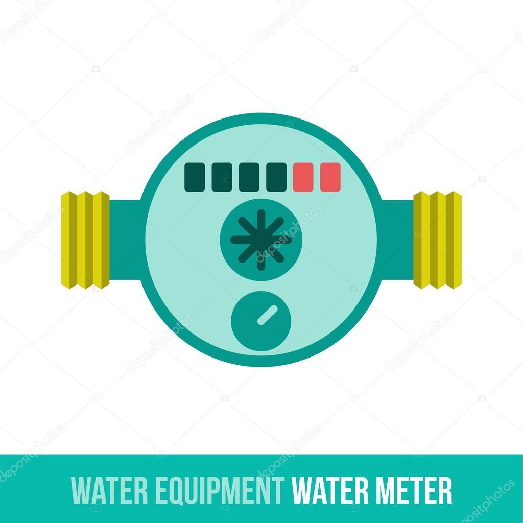 Vektor-flach-Symbol-Wasserzähler — Stockvektor © samorodinov #113947142