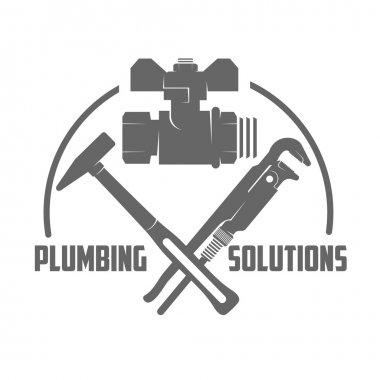 vector logo water, gas engineering, plumbing service