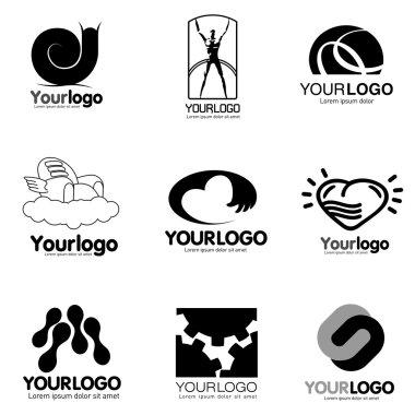 logo set various topics