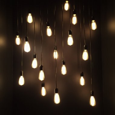 Decoration from electricity lamps.