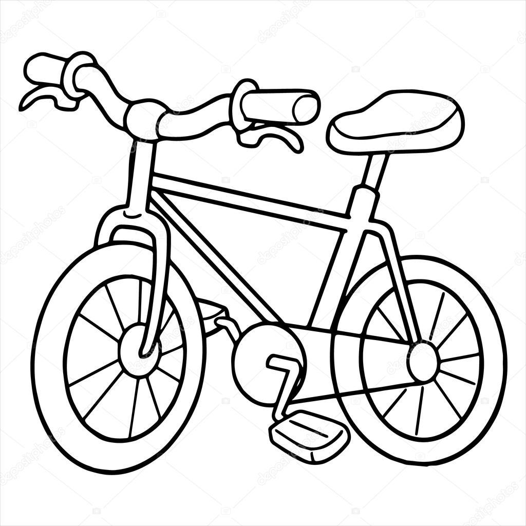 Dibujo De Bike Para Colorear