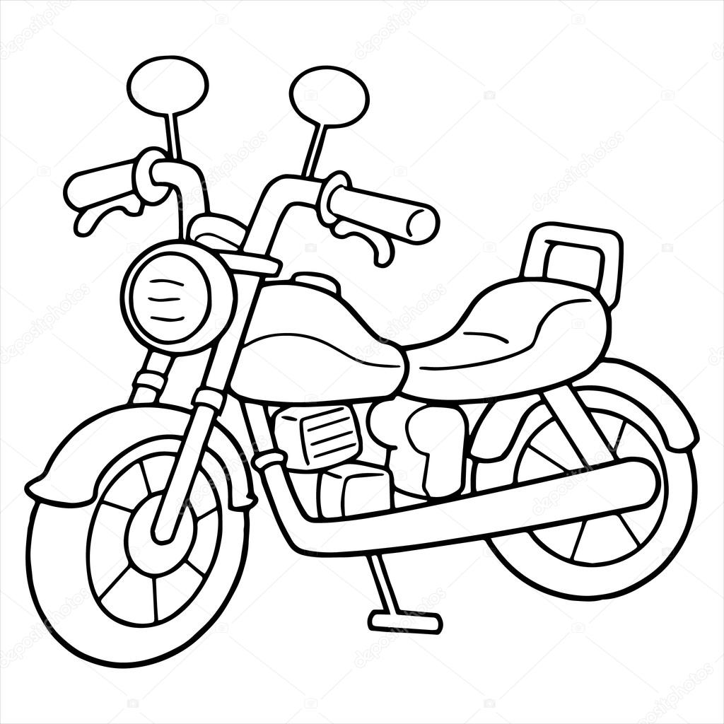 Black And White Bikes Coloring Page