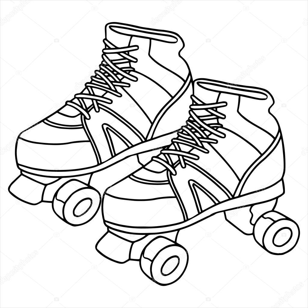 rolschaatsen afbeelding ge 239 soleerd op wit