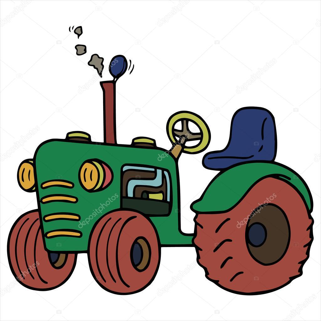 trakt u00f6r  u00e7izgi film ill u00fcstrasyon izole beyaz stok vekt u00f6r tractor clip art for shirts tractor clip art black and white