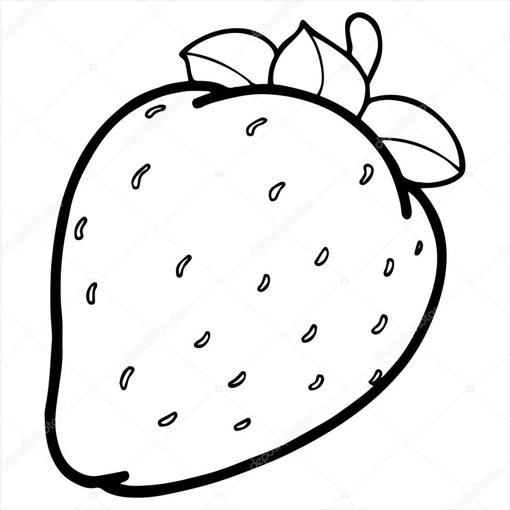 Strawberry cartoon illustration isolated on white — Stock ...