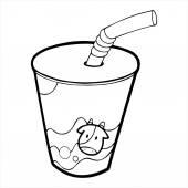 Mléko tisolated ilustrace na bílém pozadí
